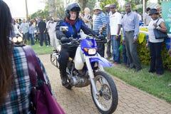 d'Elegance de África Concours de la entrada de la motocicleta Imágenes de archivo libres de regalías