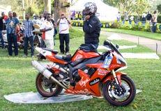 d'Elegance de África Concours de la entrada de la motocicleta Imagen de archivo libre de regalías
