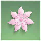 3d elegant paper  flower Stock Photos