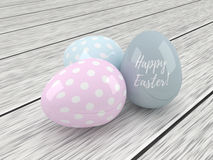 3d elegant pastel Easter eggs Stock Images