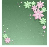 3d elegante document bloemen royalty-vrije stock fotografie