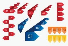 3D elementów inforgraphic projekt Zdjęcie Stock