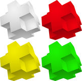 3d element Puzzle. Abstract  illustration isolated eps 10 Royalty Free Stock Photos