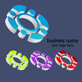 3d elements set. For company name design stock illustration