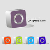 3d elements set. For company name design Royalty Free Stock Images