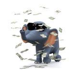 3d Elephant hits the jackpot Royalty Free Stock Photo