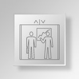 3D Elevator Pitch Button Icon Concept Royalty Free Stock Photography