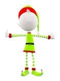 3d Elf met duimen stellen omhoog Stock Fotografie