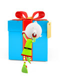 3d Elves for Christmas. 3d Elves with running pose royalty free illustration