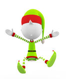 3d Elves with jump pose Stock Photo