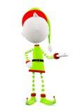 3d Elves with presentation pose. White Elves with presentation pose vector illustration