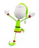3d Elves with running pose Royalty Free Stock Images