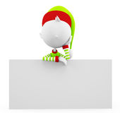 3d Elves with sign board Royalty Free Stock Photo
