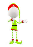 3d Elves with thumbs pose Stock Image