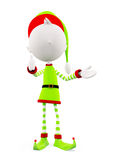 3d Elves with thumbs up pose. 3d White Elves with thumbs up pose royalty free illustration