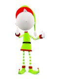 3d Elves with thumbs up pose. White Elves with thumbs up pose vector illustration