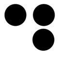 D em braille Fotografia de Stock Royalty Free
