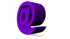 3D email icon stock video
