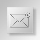 3D Email Notification icon Business Concept Royalty Free Stock Image