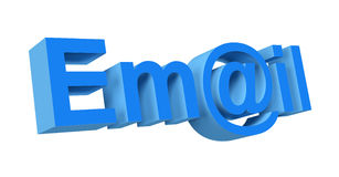 3d email. Symbol on a white background Royalty Free Stock Photo
