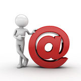 3D Email us Royalty Free Stock Photography