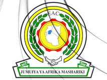 3D emblemat społeczność wschodnioafrykańska royalty ilustracja