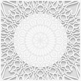 3D embossed white background Stock Photography