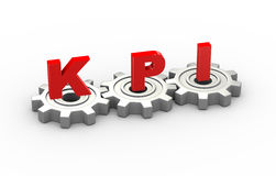 3d embraye le concept de kpi Photos stock