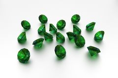 3D Emeralds Stock Photo