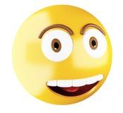 3D Emoji font face Photographie stock libre de droits