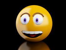 3d Emoji icons with facial expressions. stock illustration
