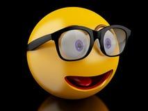 3d Emoji-pictogrammen met gelaatsuitdrukkingen Stock Foto's