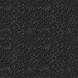 3D empaquettent la croix de fan de courbe de spirale de modèle d'art Image stock