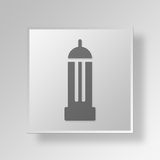 3D Empire State Building Button Icon Concept Royalty Free Stock Photos