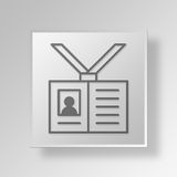 3D Employee Identification Button Icon Concept Royalty Free Stock Photos