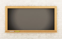 3D Empty blackboard. Education concept. 3d renderer image. Empty blackboard. Education concept Royalty Free Stock Photography