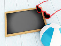 3D Empty blackboard. Travel concept. Stock Photos