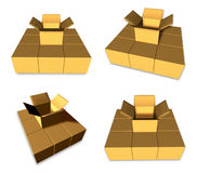 3D Empty box icon. 3D Icon Design Series. Stock Images