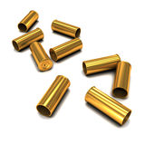 3d Empty bullet casings Royalty Free Stock Image