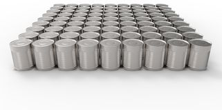 3D empty cans on white background paint Stock Photography