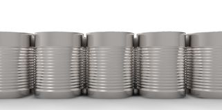 3D empty cans on white background paint Royalty Free Stock Images
