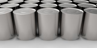 3D empty cans on white background paint Royalty Free Stock Image