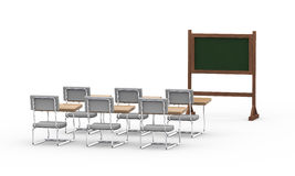 3d empty classroom Royalty Free Stock Images