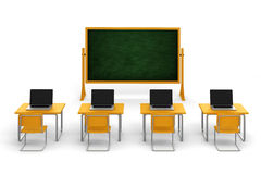 3d empty classroom Royalty Free Stock Photos