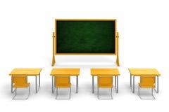3d empty classroom Stock Photos