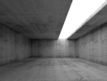 3d empty concrete interior with white asymmetric opening Royalty Free Stock Image