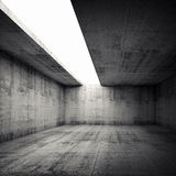 3d empty concrete room interior with empty white opening. Abstract architecture background, empty concrete room interior with empty white opening in ceiling royalty free illustration