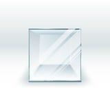 3d empty glass box for exhibit.  illustration. 3d empty glass box for exhibit. Graphic illustration Stock Photo