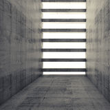 3d empty interior and concrete walls and beams. Abstract architecture background, empty interior and concrete walls and beams, 3d illustration with retro toned Stock Photos