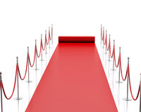 3d Empty red carpet against white background. Stock Images